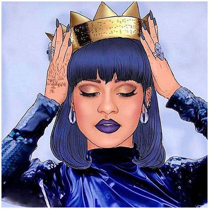 Rihanna Drawing Black women art, Rihanna, Black girl