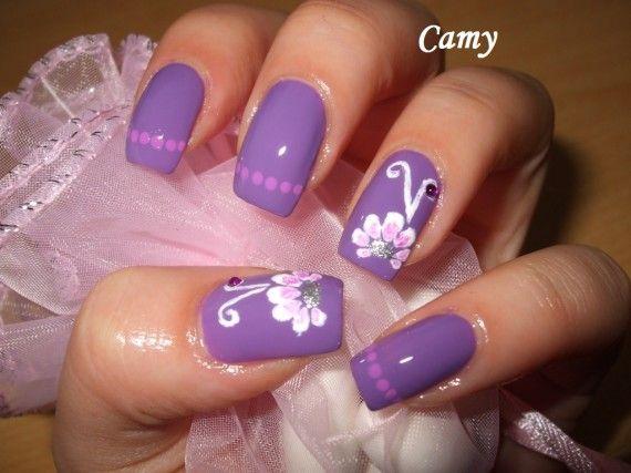 Purple Nails uas color purpura indigo morado violeta NAILS