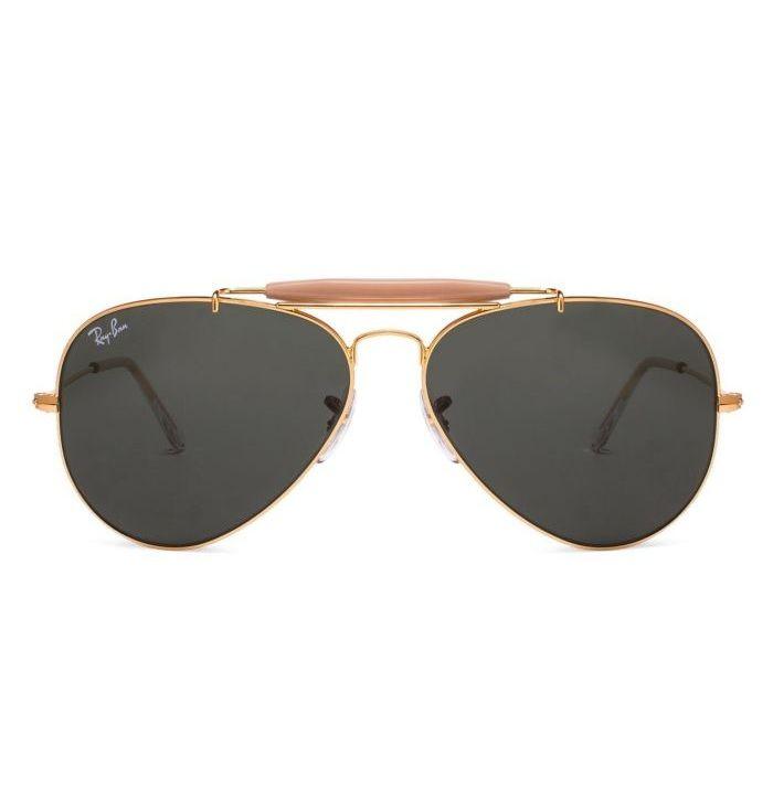 9f090f40a1d3 Ray-ban RB3129-W0226 Golden Arista Frame With Crystal Green Lens Aviator  Sunglasses  rayban  aviator  sunglasses  eyewear  opticvilla