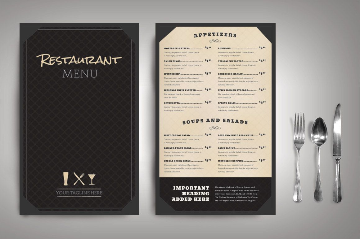 Restaurant Menu Classic (Package) by Nathan Knight Design on ...