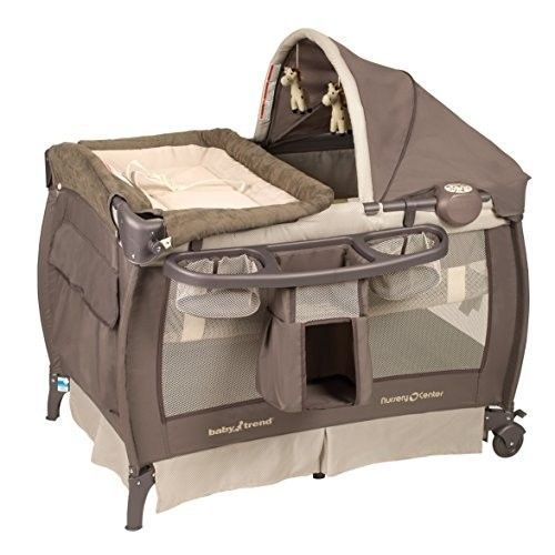 Travel Bassinet Portable Crib Nursery Center Changing Table Locking Wheels  New