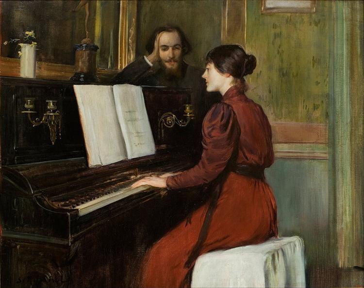 A Romance, 1894 - Santiago Rusinol. Impresionismo