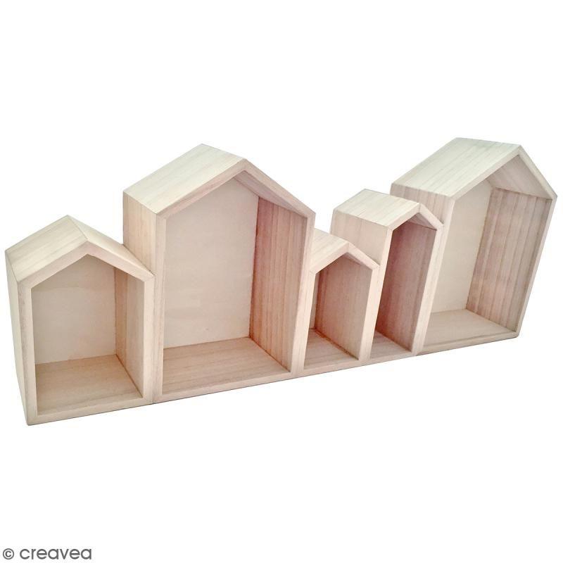 Blocs De Maisons En Bois A Decorer 50 3 Cm Crafts