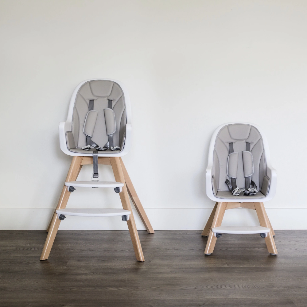 Modern Baby High Chair With Grey Pad With Images Baby High Chair High Chair Toddler Chair