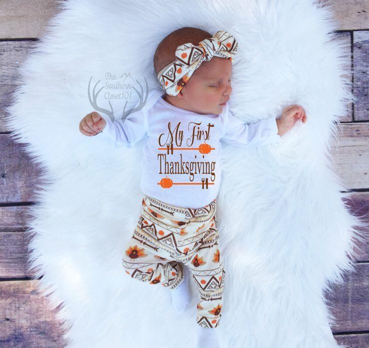 de4104bfa5d Thanksgiving Outfit Baby Girl