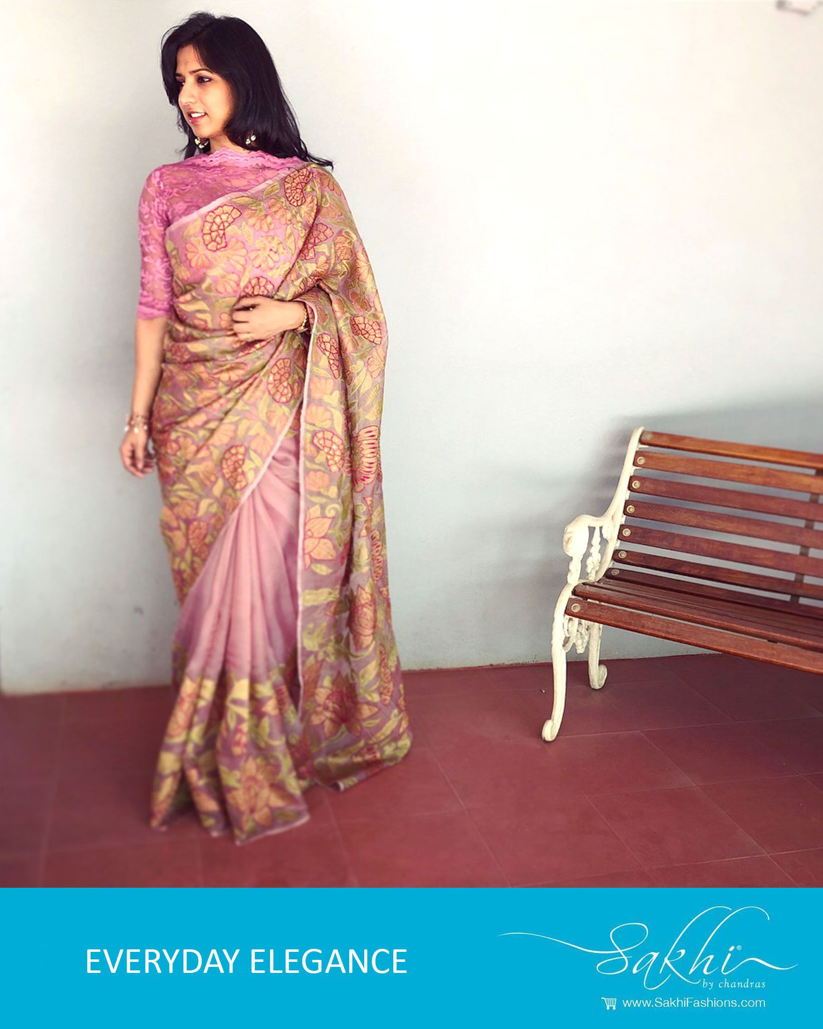 bd9e71c26a55a1 Beautiful Pink   Multi Pure Organza Silk Saree designed with applique work   designer  saree  organza  applique  trending  pink