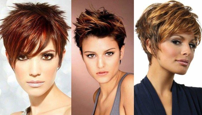 14 x cheveux noirs avec une couleur cuivre coupe courte femme coiffures pinterest - Coupe courte couleur cuivre ...