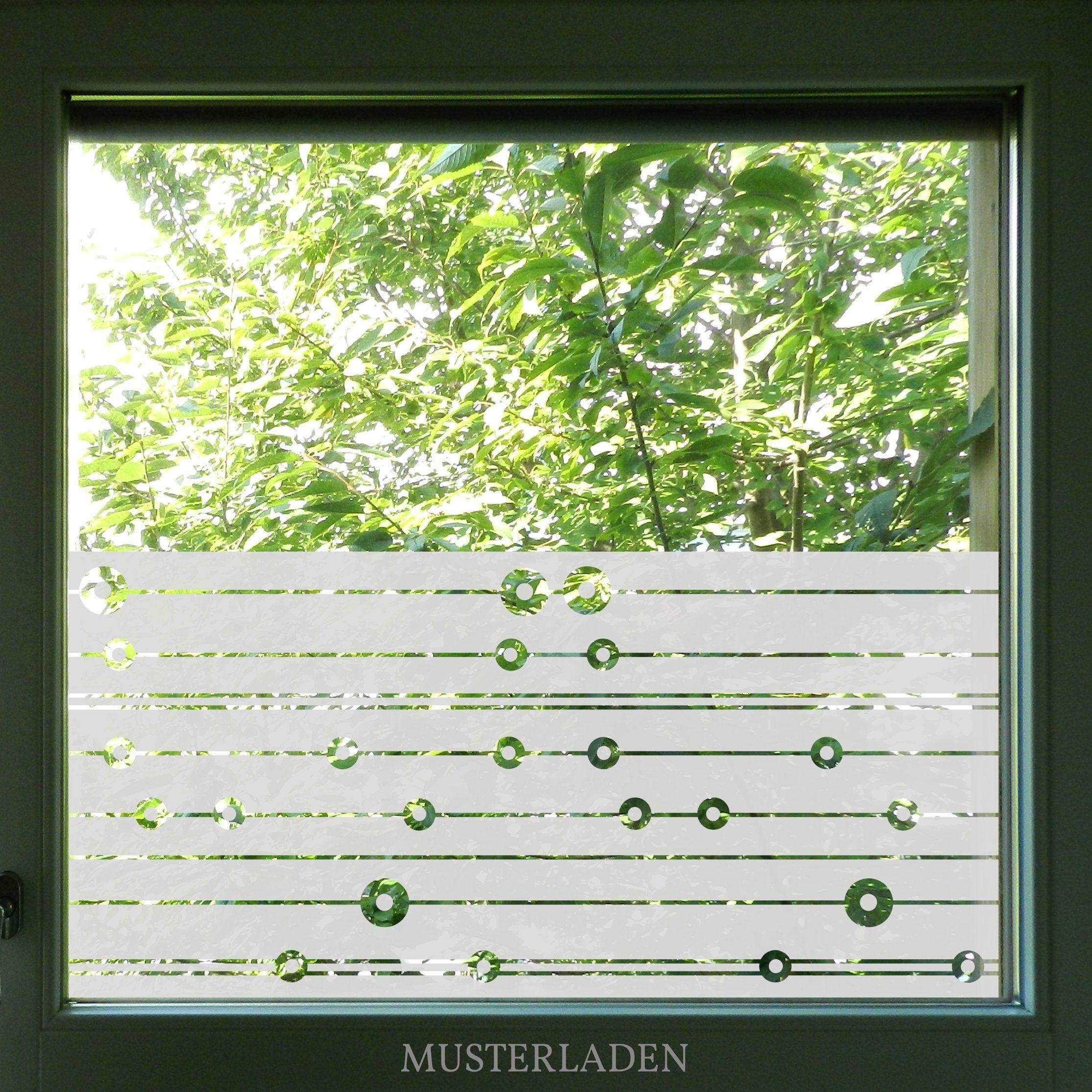 Geometrisches Fenstertattoo Mit Kreisen Und Linien Sichtschutz Fenster Innen Fenstertattoo Fenster Klebefolie