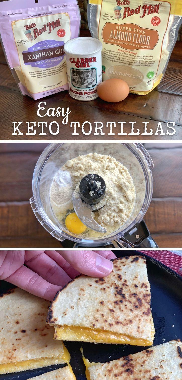 Easy Keto Tortillas (Made with Almond Flour) -  Easy Keto Tortillas (Made with Almond Flour) – Instr...