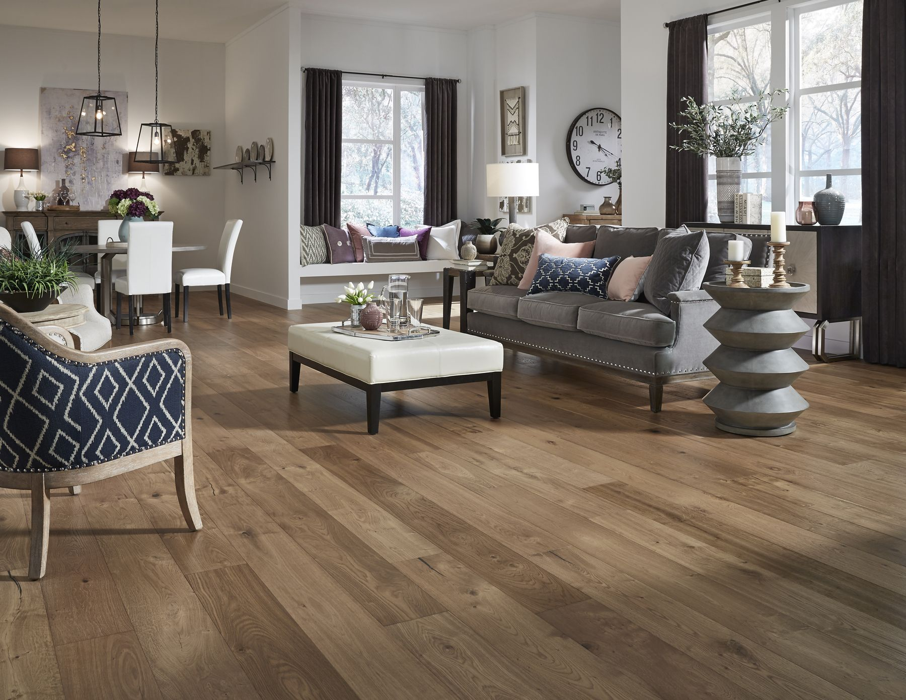 Virginia Mill Works Winchester Oak Oak Engineered Hardwood Distressed Hardwood Engineered Hardwood Flooring