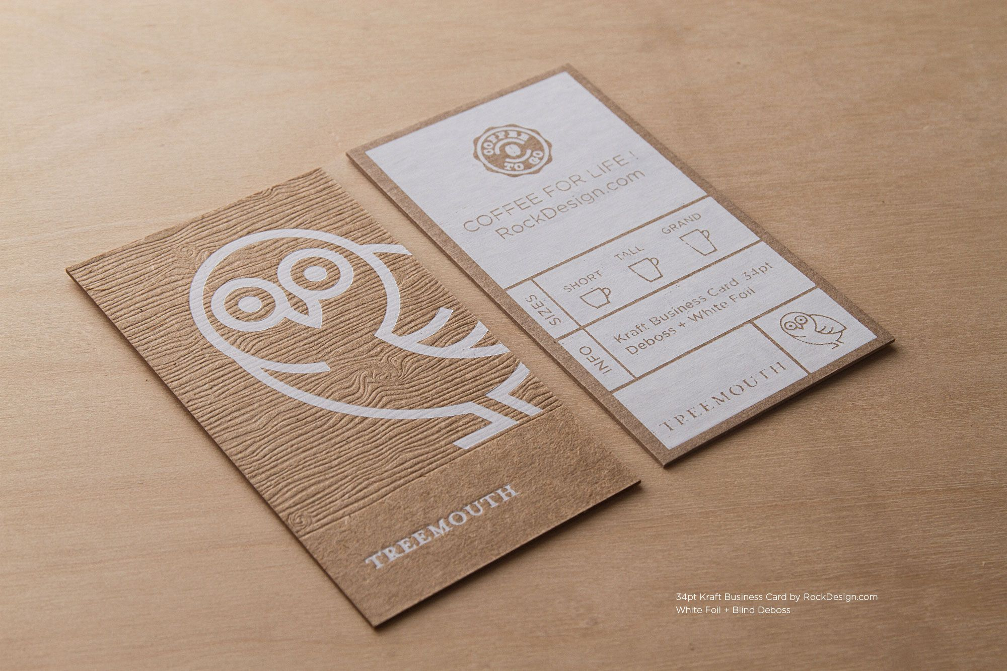 RockDesign.com | High End Business Cards | Brown Kraft Business ...