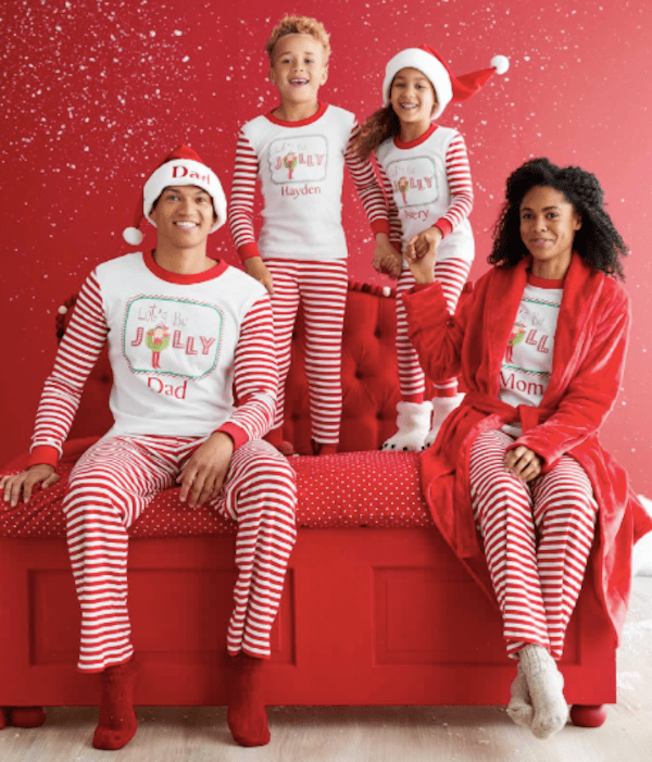 75a33f4b55 Family Matching Personalized Jolly Elf on the Shelf Pajamas ...