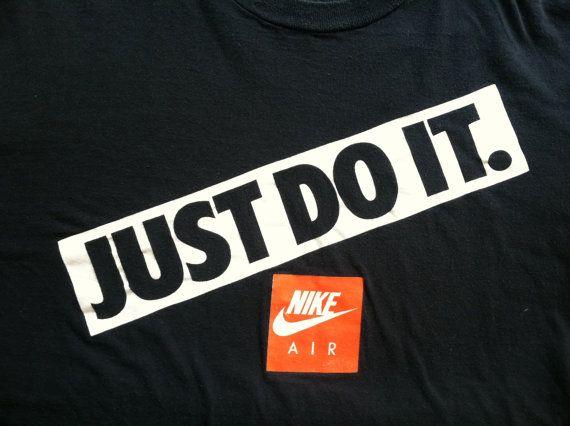 Vintage Nike Tshirt 80s Grey Tag Red Swoosh Just Do It Tee Etsy Vintage Nike T Shirt Nike Tshirt