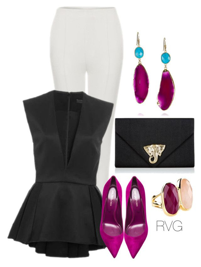 """Agate"" by r-viviane16 ❤ liked on Polyvore featuring Maticevski, Cushnie Et Ochs, Sergio Rossi, Wallace, Monsoon, women's clothing, women, female, woman and misses"