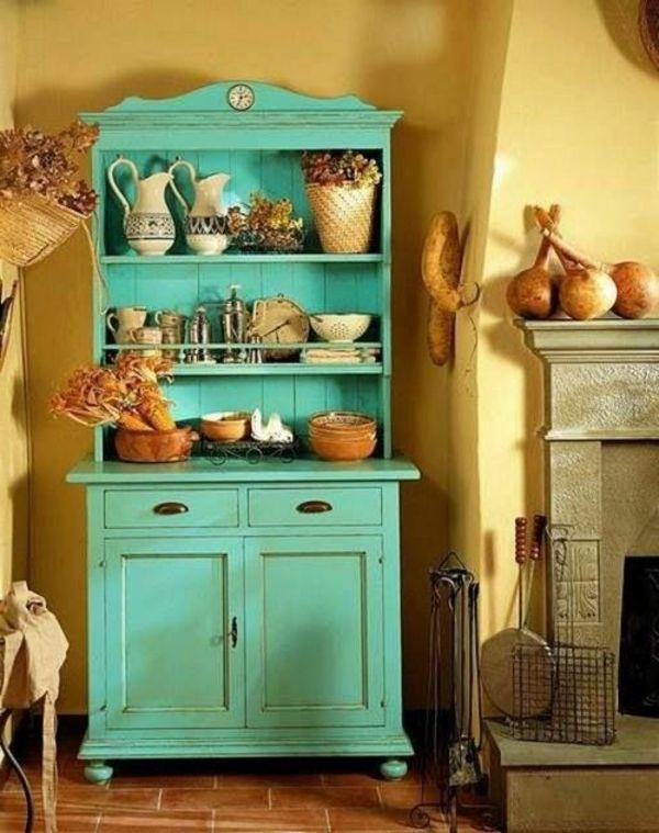 grüner Vintage Schrank in der Küche | Ideen rund ums Haus ...