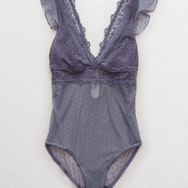 819bb1412c Aerie Nordic Lace Bodysuit ( 31) ❤ liked on Polyvore featuring intimates