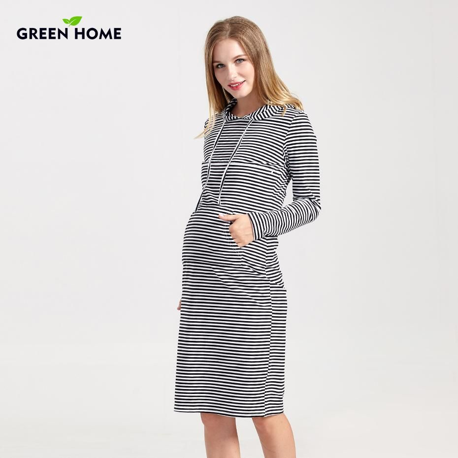 Green home hooded maternity dresses winter thicken tight for women green home hooded maternity dresses winter thicken tight for women casual pregnancy clothes elegant maternity top nursing dress ombrellifo Gallery