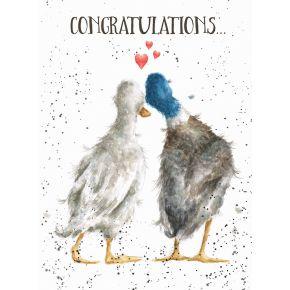 'Duck Love' Lovebirds card