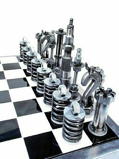 projects ideas metal chess pieces. A great chess set for the Mechanically Inclined Kevin  GROWN UP WORLD Metal ProjectsMechanical