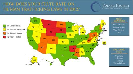 Polaris Project 2012 State Human Trafficking Law Ratings Map IT
