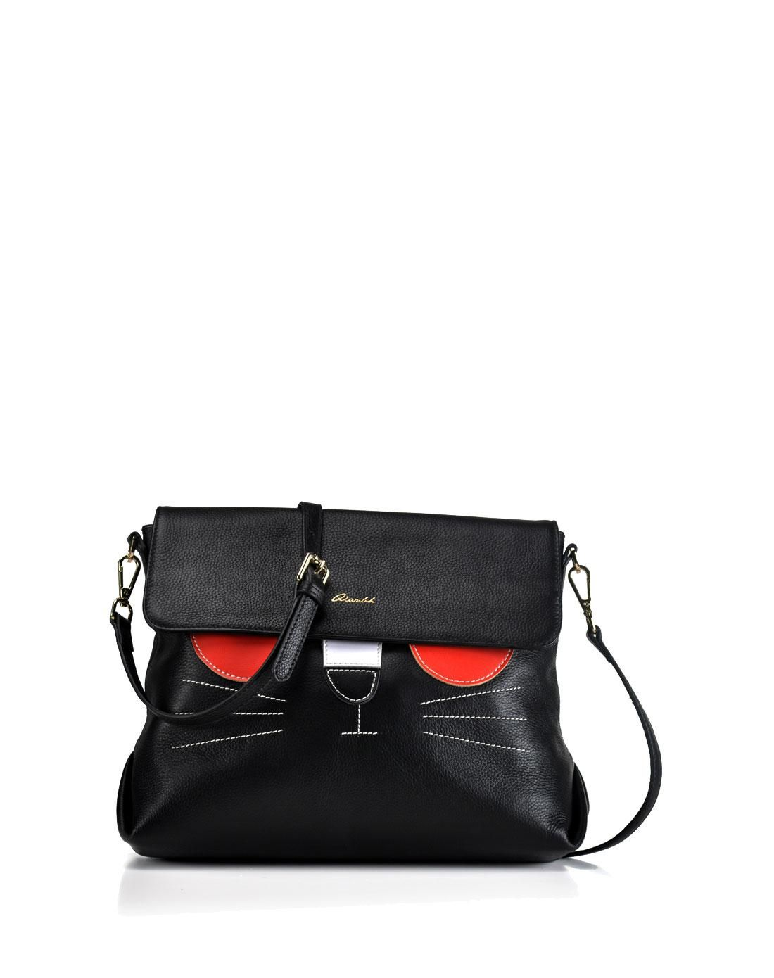 AdoreWe  VIPme Shoulder Bags - QIANBH Patched Cat Pattern Crossbody -  AdoreWe.com dc8ae7c63556a