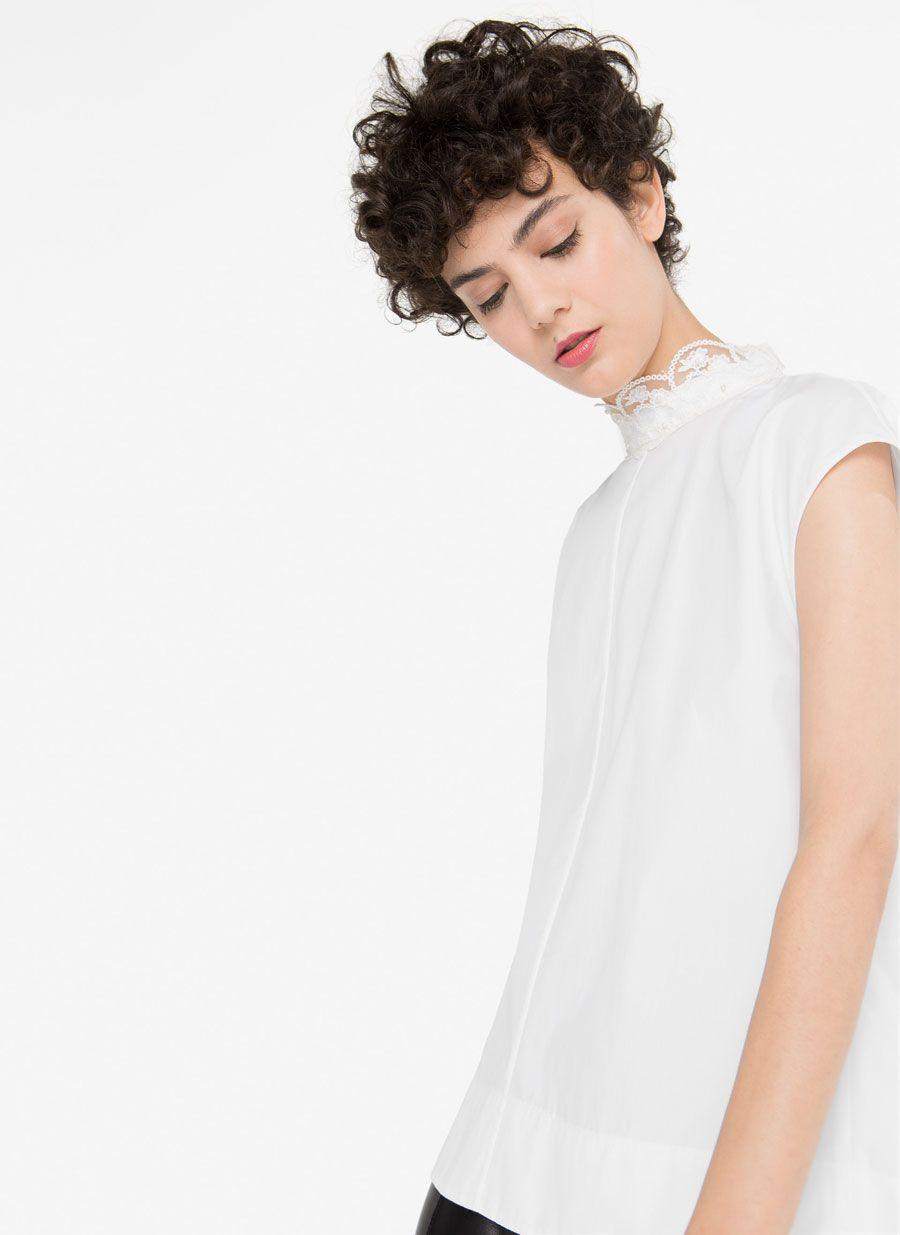 Camisa plisada -  - Uterqüe España