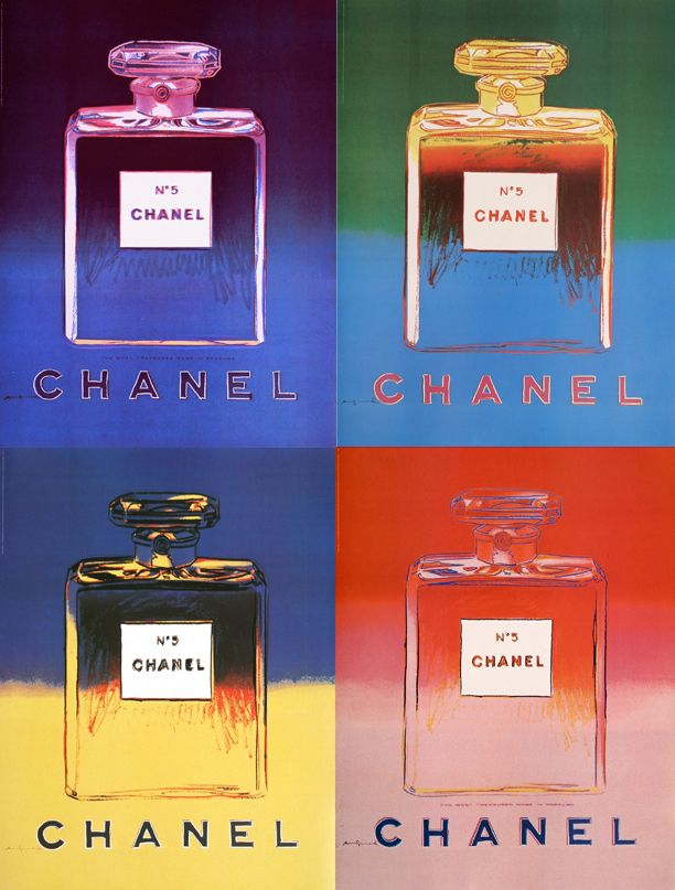8d7c09868ab Aseries of four original vintage posters from the 1990 s for Chanel No. 5  Perfume.