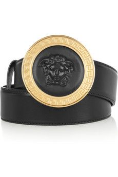 versace embossed leather belt my style