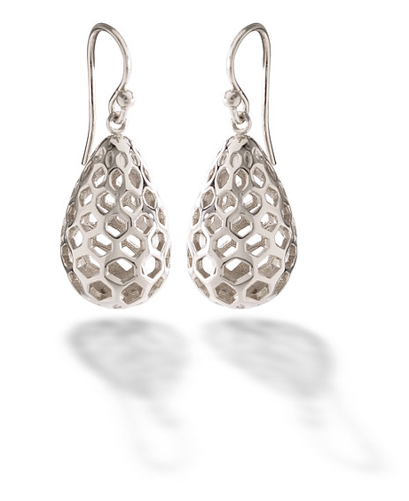 The Symbolism Of The Honeycomb Pear Earrings Is A Sign Of Love The
