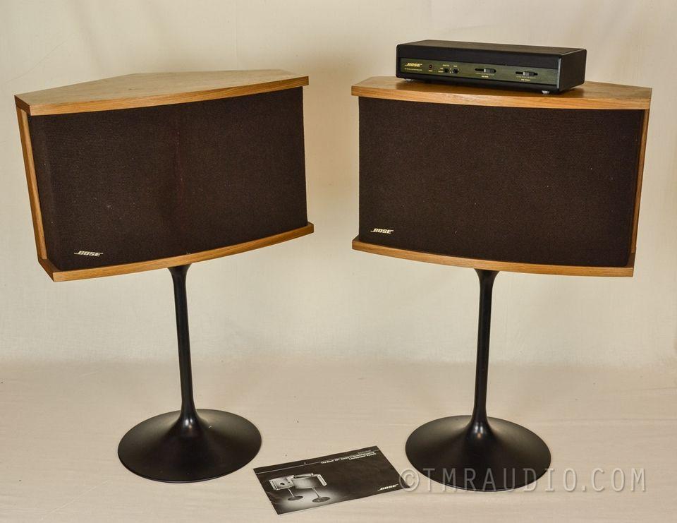 Bose 901 Series Vi Speakers Complete One Owner Set Eq Stands Manual The Music Room Speaker Bose Floor Standing Speakers