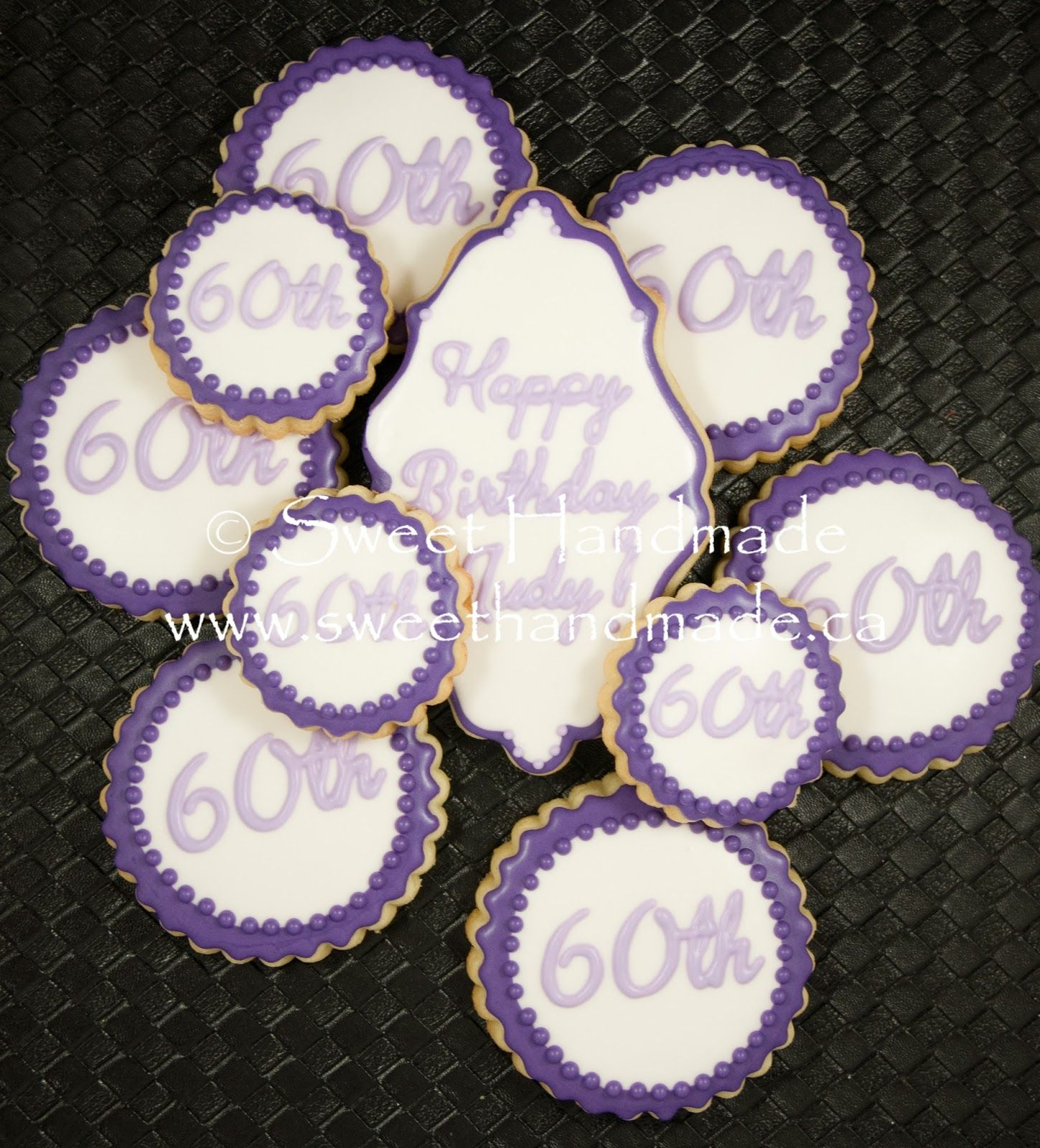 60th Birthday Celebration Cookies