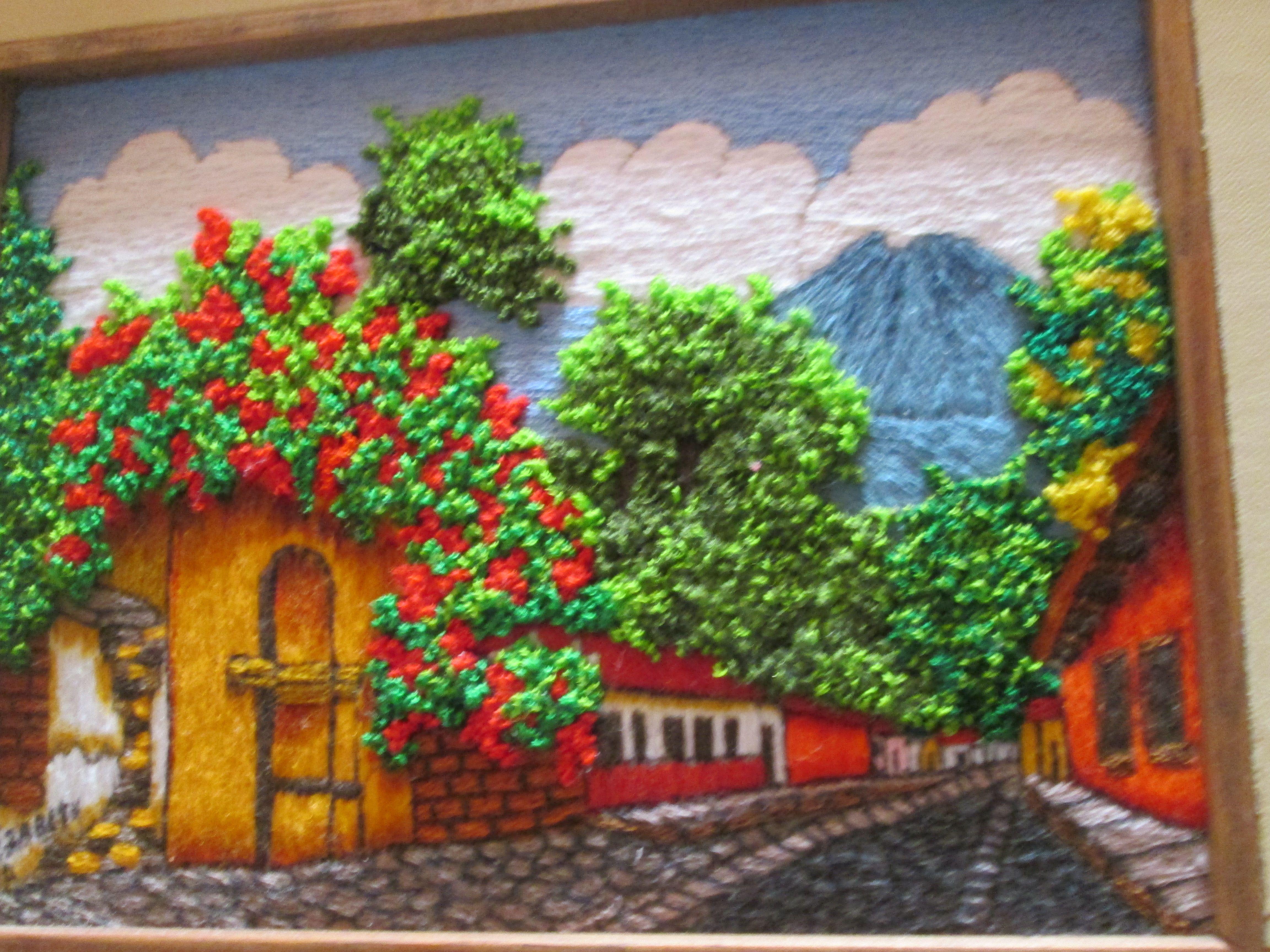 antigua guatemala   cuadros bordados por mi   Pinterest   Bordado ...