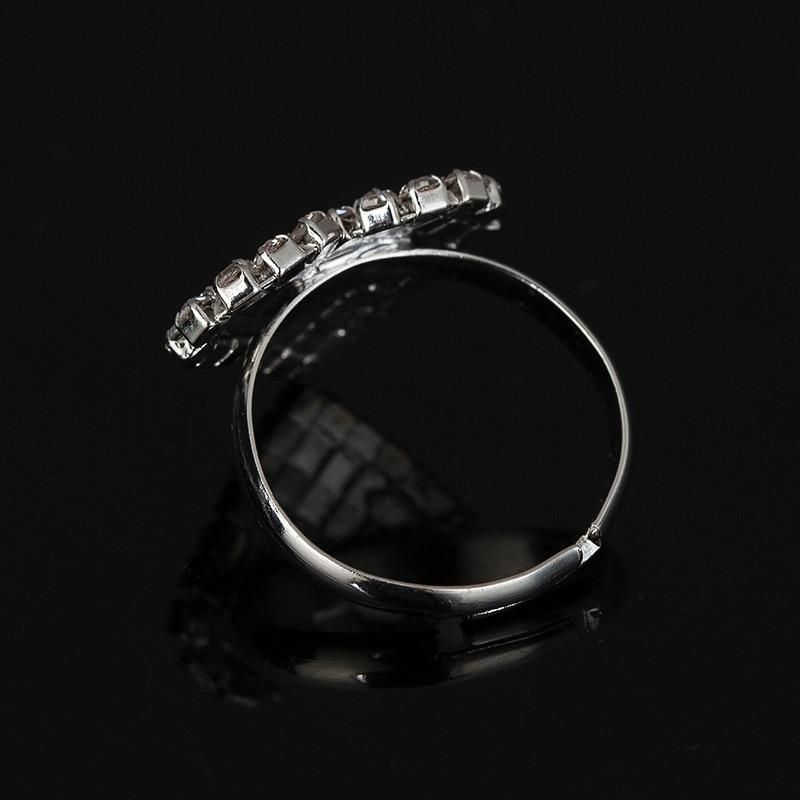 Heart Shaped Rhinestone Ring Adjustable sizing to fit any finger!