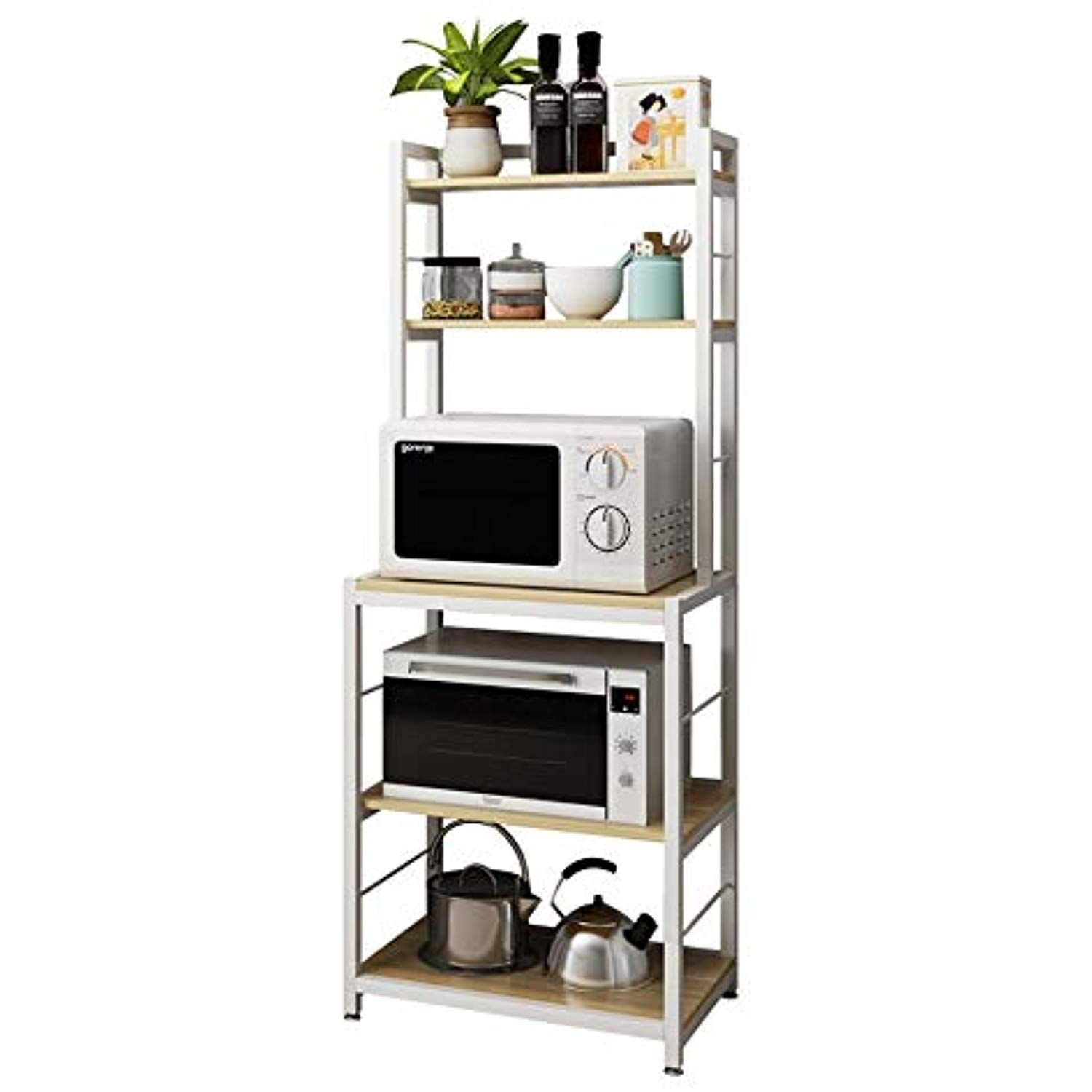 home kitchendining with images kitchen storage rack microwave in kitchen space saving storage on kitchen organization microwave id=65243