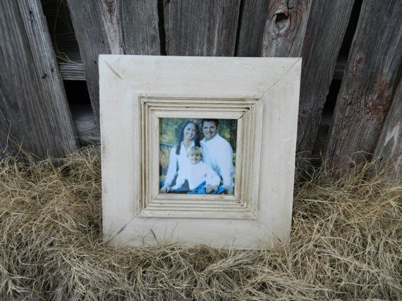 8x8 Distressed Picture Frame with Fluted trim in by framesyall ...