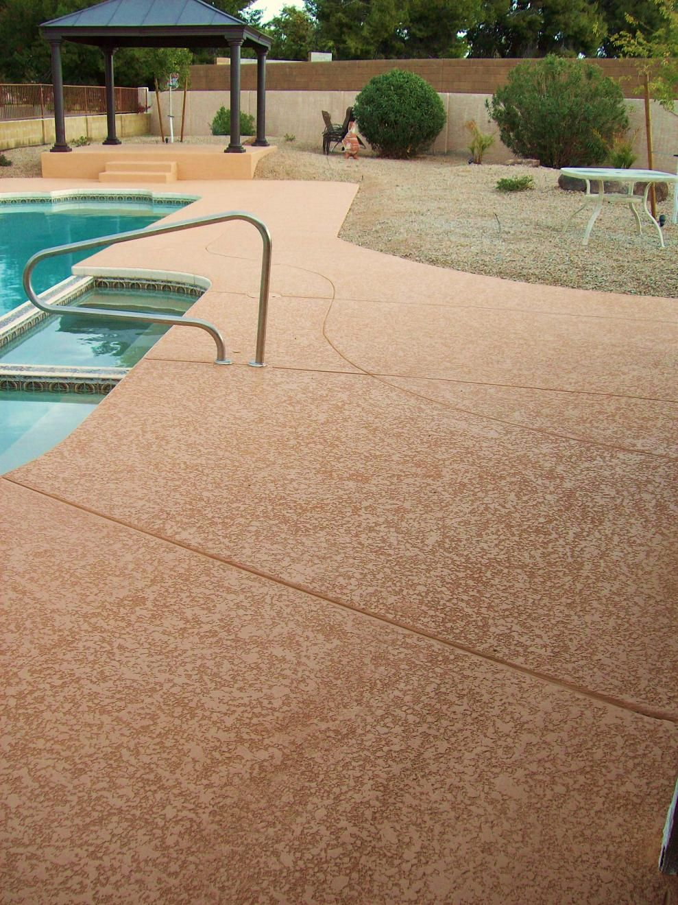 Pool Decking Ideas Concrete concrete pool decks Stained Concrete Foundations Pool Deck Lace Micro Toppings