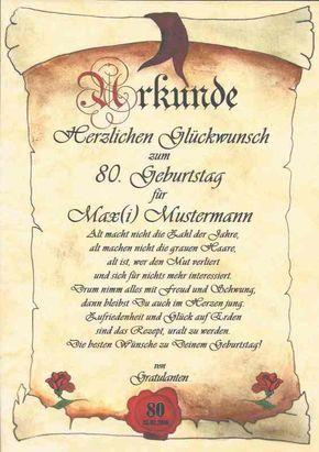Ur35 Urkunde Zum Geburtstag 40 50 60 70 80 90 Geburtstagskarte