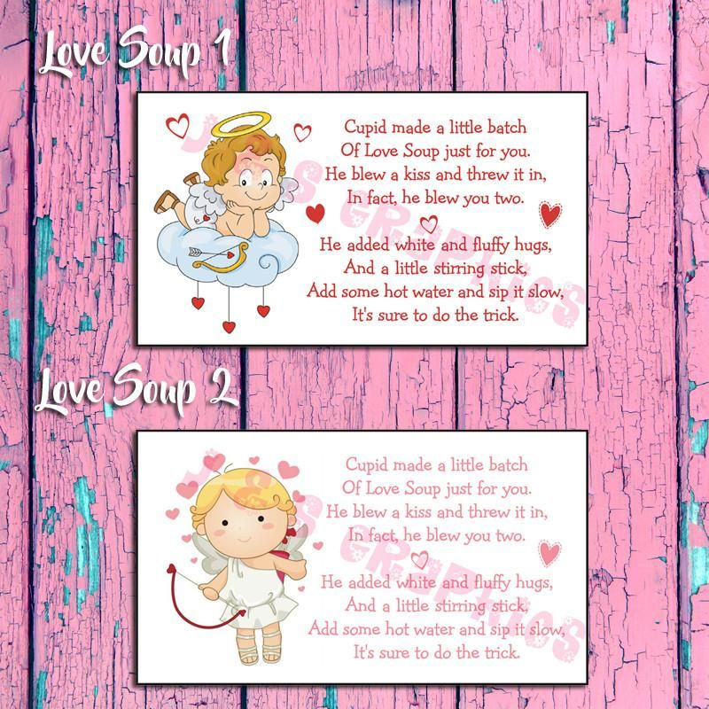 Cupid ValentineS Day Labels For Cupid Love Soup  Label Your