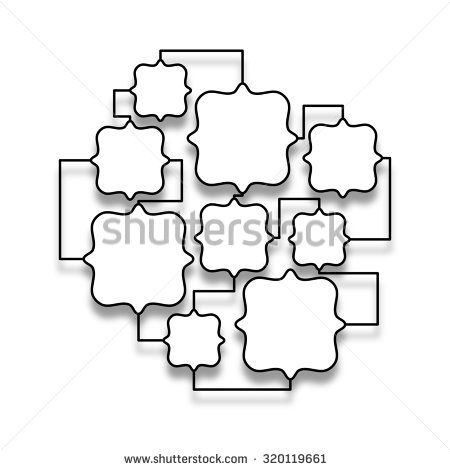 Stock #photo: #black #empty #multiple #squared #frames #linked on ...