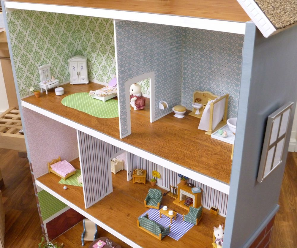 dollhouse bookcase billy hack puppenhaus selber machen. Black Bedroom Furniture Sets. Home Design Ideas