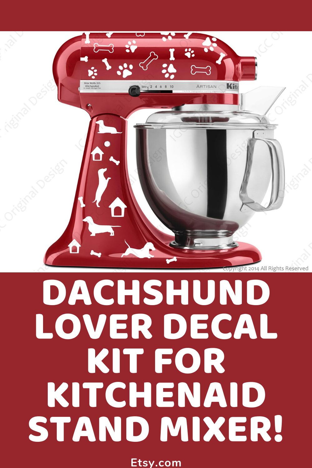 Doxie Lovers Decal Kit For Kitchenaid Stand Mixer Dachshund Lover Small Dog House Kitchen Aid Decals Large