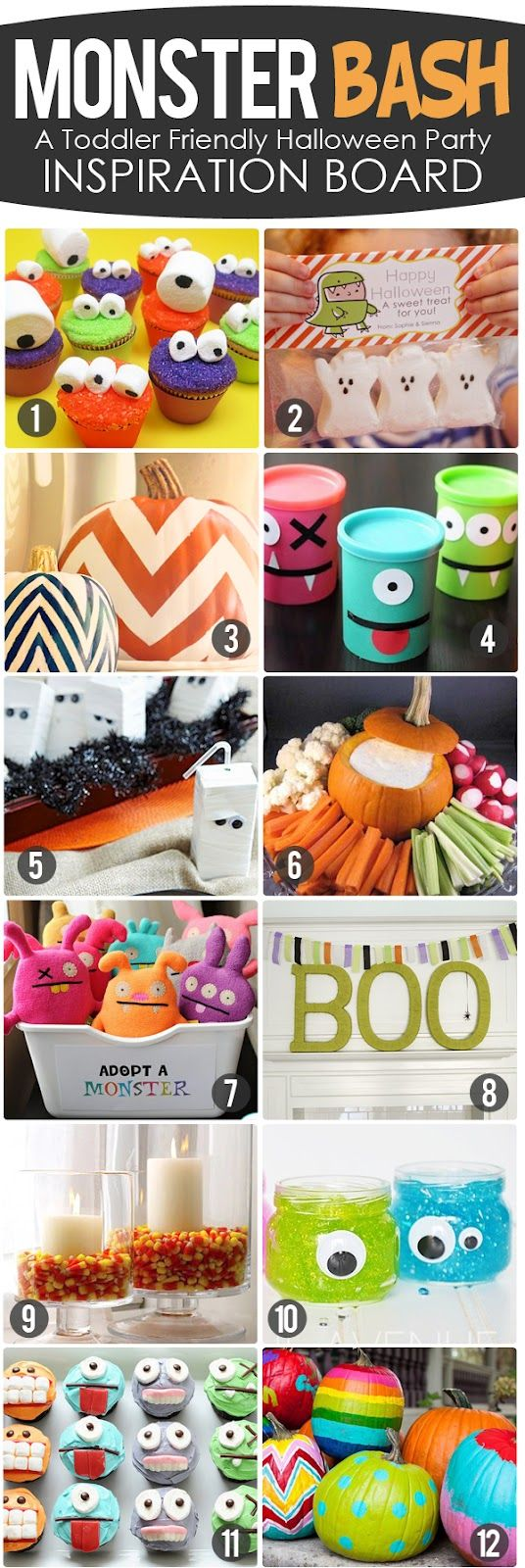 monster bash!- toddler friendly halloween party inspiration board