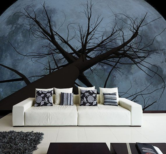 Wall Mural Giant Moon Wall Paper Self Adhesive Wall Covering Peel And Stick Repositionable Nature Wallpaper Wall Murals Mural Home And Living