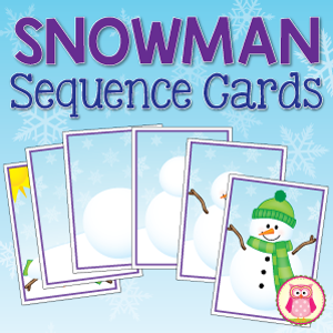 snowman sequence cards