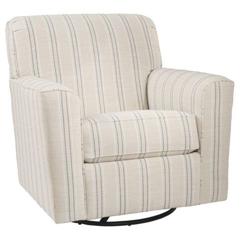 Best Alandari Swivel Glider Accent Chair Gray Signatur 400 x 300