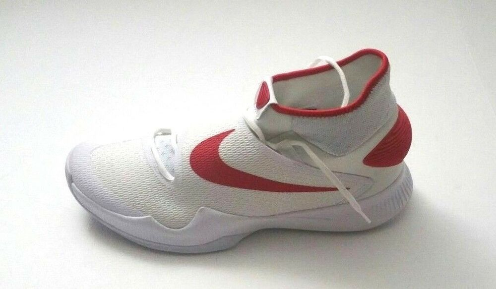 Details About Nike Men S Zoom Hyperrev 2016 Tb White Red Basketball Shoes Size 14 5 In 2020 Red Basketball Shoes White Basketball Shoes