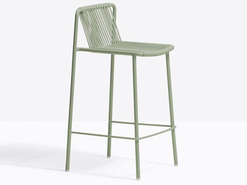 Download The Catalogue And Request Prices Of Tribeca 3667 By Pedrali High Powder Coated Steel Stool With Back Design In 2020 Modern Bar Stools Steel Stool Bar Stools