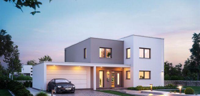 Häuser- Architektenhaus Futura - Zukunft gestalten Architektur - geometrische formen farben modernes haus