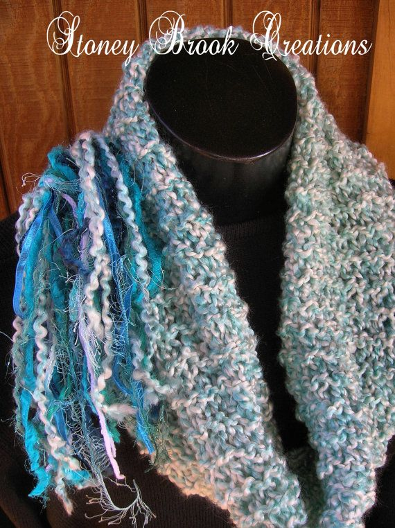 Shades of Aqua Cowl Scarf by StoneyBrookCreations on Etsy, $40.00