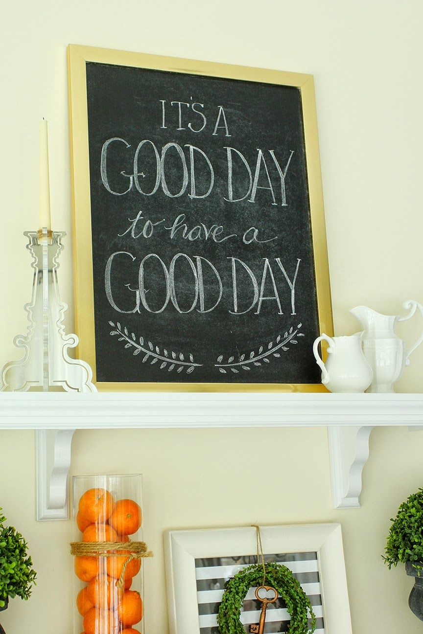 its a good day free chalkboard printable